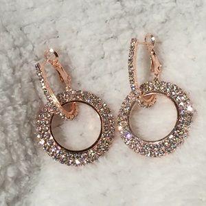 Geometric Hoop Crystal Earrings